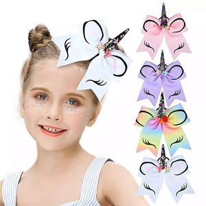 Multi Colored Unicorn Ponytail Hair Bow